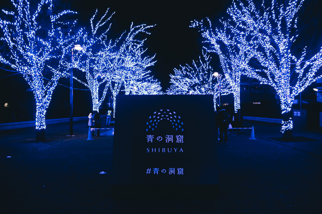 Blue Cave Illumination Shibuya 2016-17 - entrace - Unseen Japan